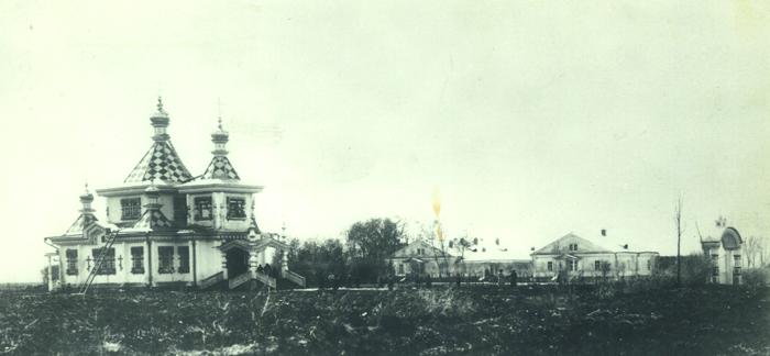 Мужской миссионерский Иссык-Кульский Свято-Троицкий монастырь. Ныне не существует. Фото нач. XX в.